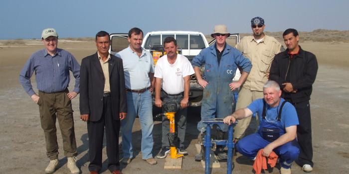 CCGI International - Dave Drew (In CCGI Blue Overalls) in Turkmenistan