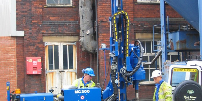 First rotary rig in 2005, before the days of full guarding