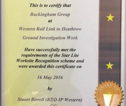 Star Lite Award Cert